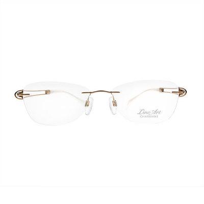 LineArt CHARMANT 寶石心弦透視無邊款眼鏡◆古典金