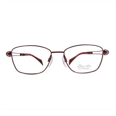 LineArt CHARMANT 現代演繹唯美設計款眼鏡◆柔媚紅