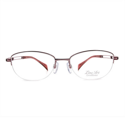 LineArt CHARMANT 二重奏俐落橢圓框眼鏡◆雅緻粉