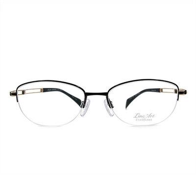 LineArt CHARMANT 二重奏俐落橢圓框眼鏡◆精鍊黑