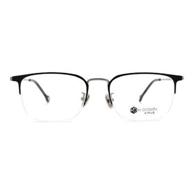 K-DESIGN K PLUS 低奢百搭眉型半框眼鏡◆透視黑