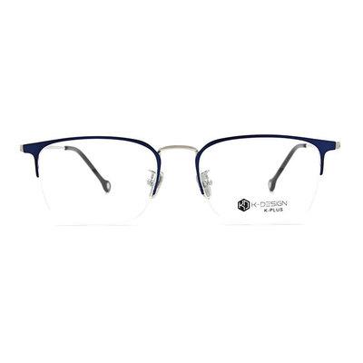 K-DESIGN K PLUS 低奢百搭眉型半框眼鏡◆專注藍