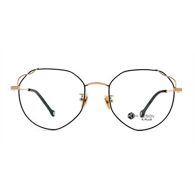 K-DESIGN K PLUS 多邊風眼鏡格盤紋設計師款眼鏡◆金耀黑