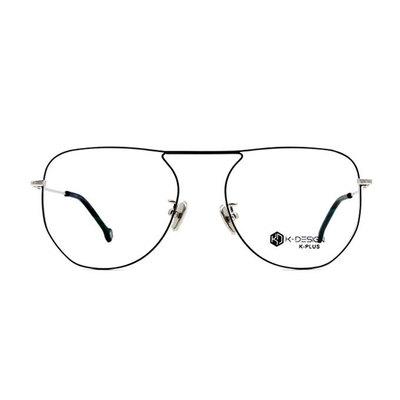 K-DESIGN K PLUS 布魯斯圓潤極細飛官框眼鏡◆紳士銀