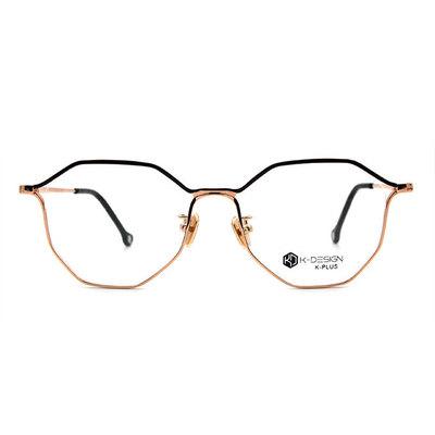 K-DESIGN K PLUS 美麗邊界拼色多角框眼鏡◆蕊蜜金