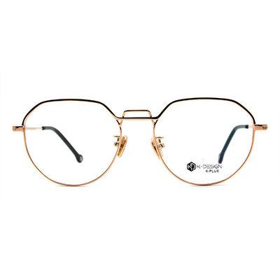 K-DESIGN K PLUS 提型中架雙釦設計款眼鏡◆粉霜金