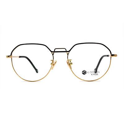 K-DESIGN K PLUS 提型中架雙釦設計款眼鏡◆尊爵金