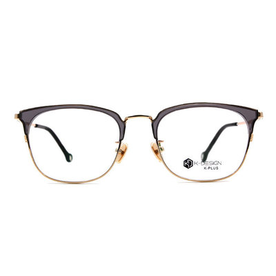 K-DESIGN K PLUS 韓風眼鏡復古經典眉架框眼鏡◆靡夜金