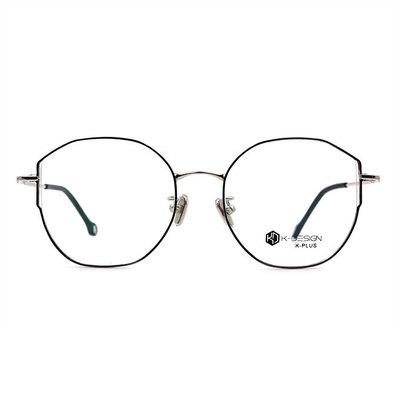 K-DESIGN K PLUS 微貓眼百搭學院款眼鏡◆精靈黑