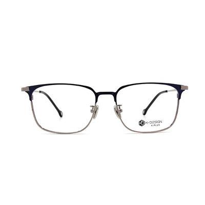 K-DESIGN K PLUS 中性的魅力文青眉方框眼鏡◆風眼鏡格藍