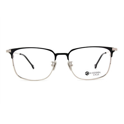 K-DESIGN K PLUS 中性的魅力文青眉方框眼鏡◆精彩黑