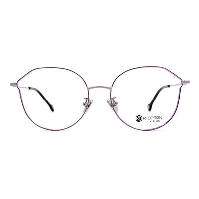 K-DESIGN K PLUS 繽紛樂園輕質貓眼框眼鏡◆香檳紫