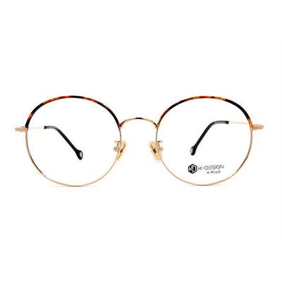 K-DESIGN K PLUS 眼眉的心弦波紋圓框眼鏡◆絢光金