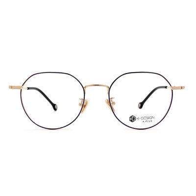 K-DESIGN K PLUS 俏皮的時光多角框眼鏡◆金藕紫