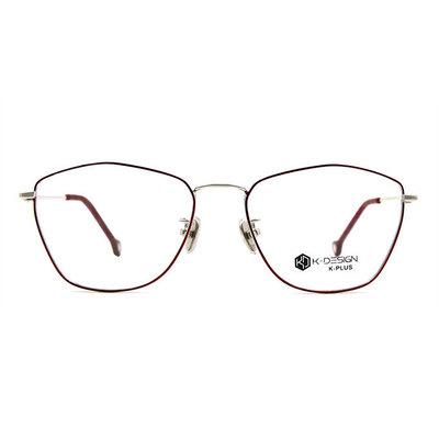 K-DESIGN K PLUS 美杜莎優雅多邊框眼鏡◆銀透紅