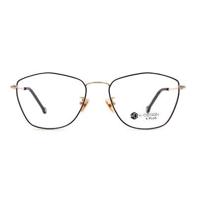 K-DESIGN K PLUS 美杜莎優雅多邊框眼鏡◆金透黑