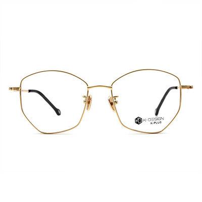 K-DESIGN K PLUS 優雅女孩輕質多邊框眼鏡◆璀璨金