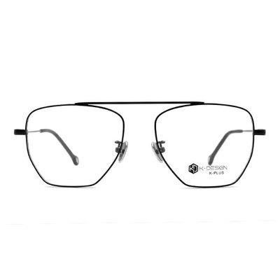 K-DESIGN K PLUS 純粹設計飛官多邊款眼鏡◆經典黑