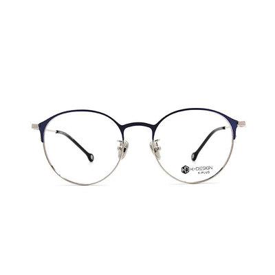 K-DESIGN K PLUS 爵士貓眼復古眉框眼鏡◆魔法藍
