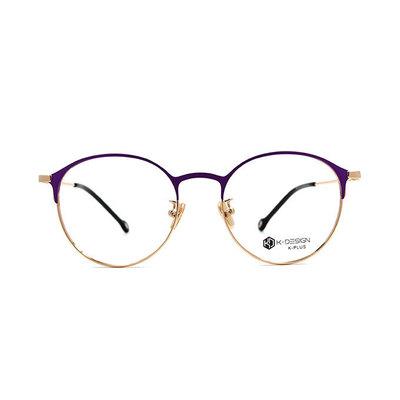 K-DESIGN K PLUS 爵士貓眼復古眉框眼鏡◆藏金紫