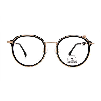 K-DESIGN | LINE FRIENDS◆Love熊大套圈框眼鏡-雅金黑(熊大金鑄)