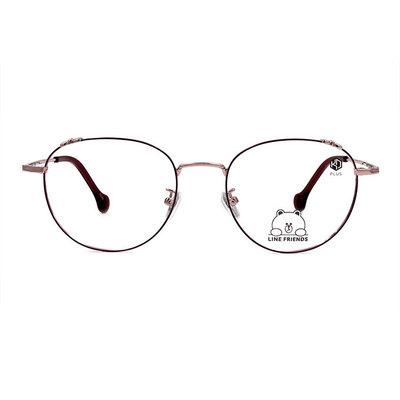 K-DESIGN   LINE FRIENDS◆造型梨圓框眼鏡-香檳甜心紫(兔兔銀鑄)