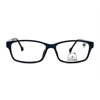 K-DESIGN | LINE FRIENDS◆長方粗框眼鏡-動感眼鏡藍(熊大銀鑄)