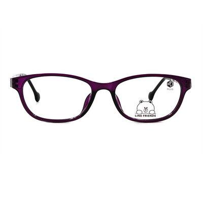 K-DESIGN | LINE FRIENDS◆橢圓長方框眼鏡-幻境紫(兔兔銀鑄)