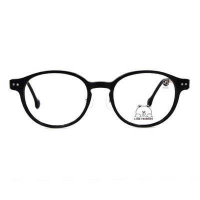 K-DESIGN | LINE FRIENDS◆橢圓粗框眼鏡-甜蜜黑(兔兔金鑄)