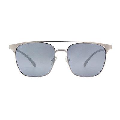 HORIEN 鋼質極簡雙甲眉架方框墨鏡 ♦夜霧灰