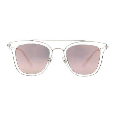 HORIEN 雙桿設計套圈個性款墨鏡♦銀透白