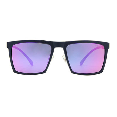 HORIEN 沉穩俐落輕式金屬方框墨鏡 ♦獨行紫