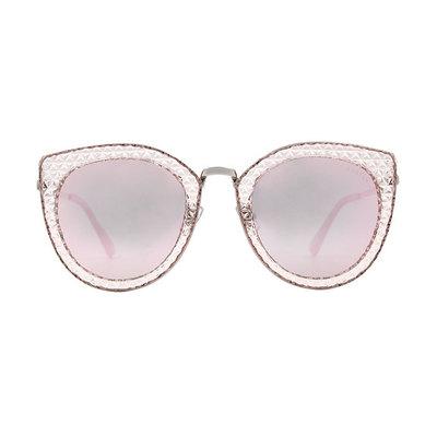 HORIEN 秘戀私搭鑲邊精緻款墨鏡♦甜心銀粉