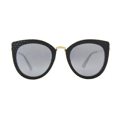 HORIEN 秘戀私搭鑲邊精緻款墨鏡♦時尚黑金