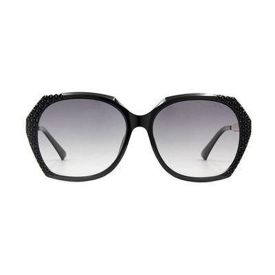 HORIEN 璀璨銀河菱格方框墨鏡 ♦時髦黑