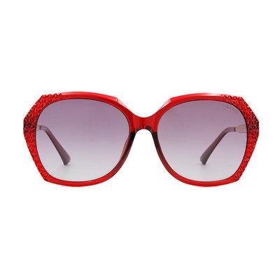 HORIEN 璀璨銀河菱格方框墨鏡 ♦性感紅