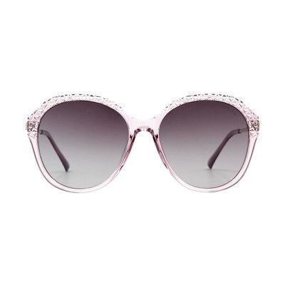 HORIEN 晶透菱格星鑽簡約款墨鏡♦月光紫