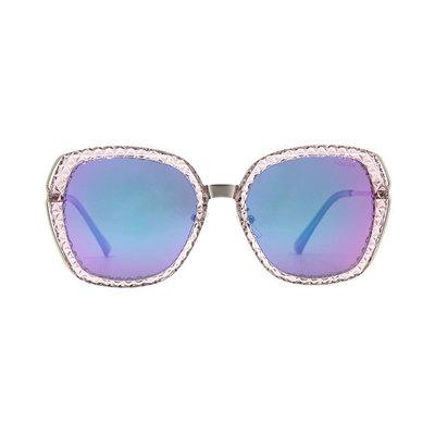 HORIEN 歐式典雅菱格設計款墨鏡♦高貴紫
