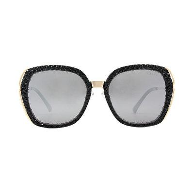 HORIEN 歐式典雅菱格設計款墨鏡♦古典黑