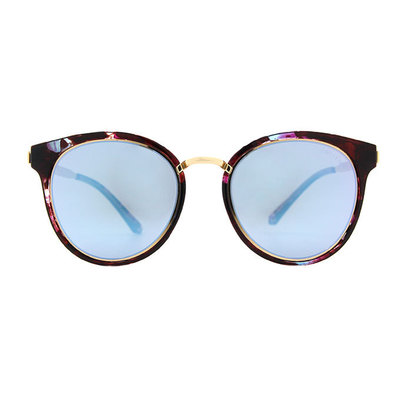 HORIEN 時尚簡約寬版貓眼框墨鏡 ♦金絢紫