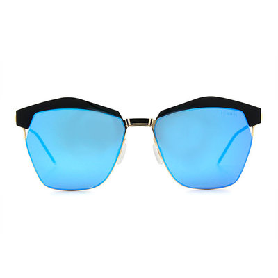 HORIEN 勾勒雅緻時尚眉架框墨鏡 ♦遠洋藍