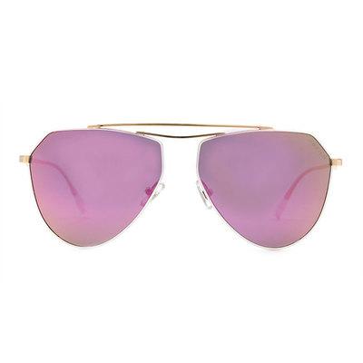 HORIEN 簡潮輕薄款墨鏡飛官框墨鏡 ♦金彩紫