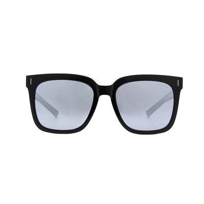 HORIEN 都會潮男寬版雙色方框墨鏡 ♦搖滾黑