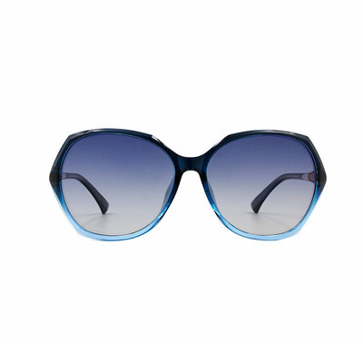 HORIEN 綴飾杖型菱紋別緻款墨鏡♦寶石藍