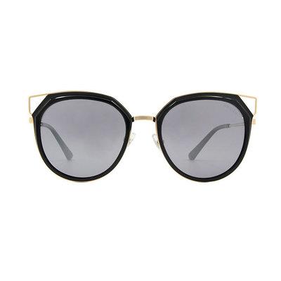 HORIEN 邊角簍空造型套圈框墨鏡 ♦光澤黑