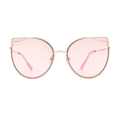 HORIEN 曼妙女伶鑲邊貓眼設計款墨鏡♦微醺粉