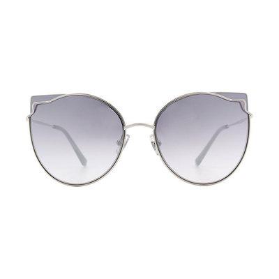 HORIEN 曼妙女伶鑲邊貓眼設計款墨鏡♦雪幕銀