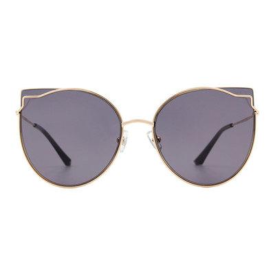 HORIEN 曼妙女伶鑲邊貓眼設計款墨鏡♦性感黑