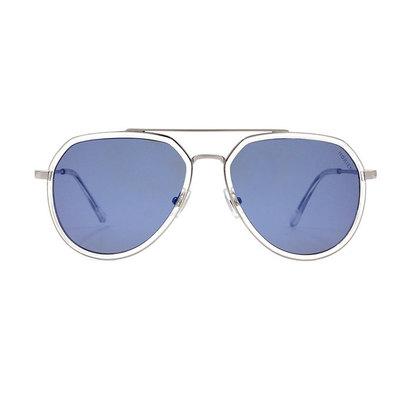 HORIEN 紳士飛官套圈設計款墨鏡♦銀透藍