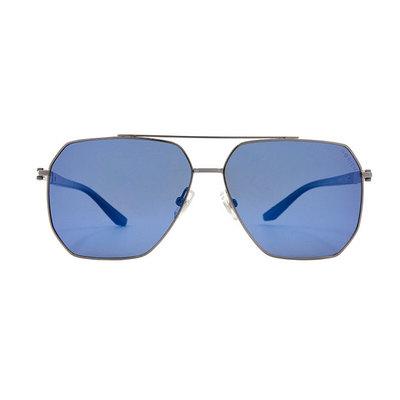 HORIEN 街頭潮流雙甲多邊款墨鏡♦鏡潮藍